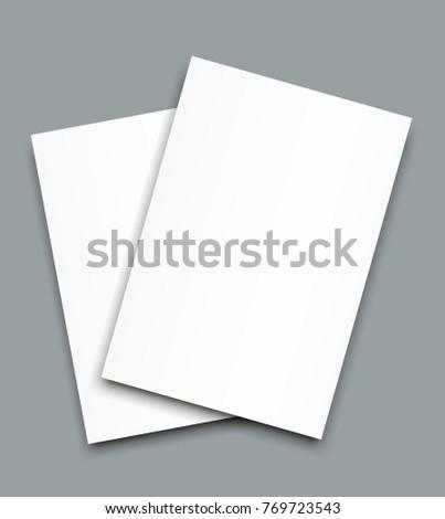 blank bi fold brochure mockup cover stock vector royalty free