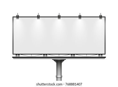 Blank big billboard. Mockup for your advertisement and design