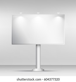blank billboard mockup design template