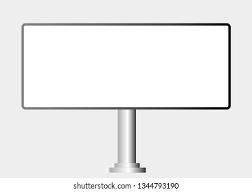 Blank billboard. Mockup for your advertising and design