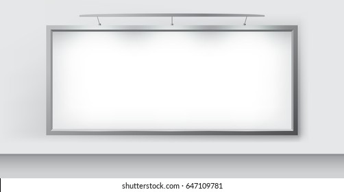Blank Billboard Realistic Vector Illustration for Outdoor Advertising.