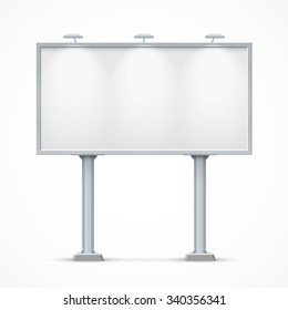 Blank billboard with two legs. Mockup for your advertisement and design