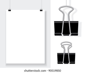 blank with binder clips