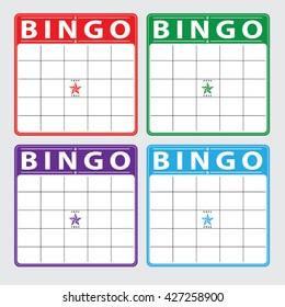 blank bingo cards set, vector format