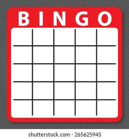 blank bingo cards, vector format