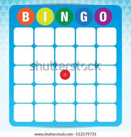 Blank Bingo Cards Vector Format