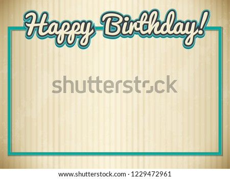 Blank Birthday Card Template Illustration Stock Vector Royalty Free