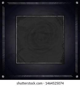 Blank black chalkboard blackboard background. Vector illustration