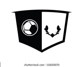 Blank Black Soccer Emblem.
