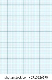 A blank blue grid paper of notebook page. Paper vector for graphic source.
