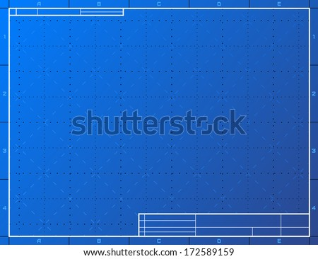 Blank blueprint paper drafting drawing sheet stock vector royalty blank blueprint paper for drafting drawing sheet layout with frame and title block vector malvernweather Images