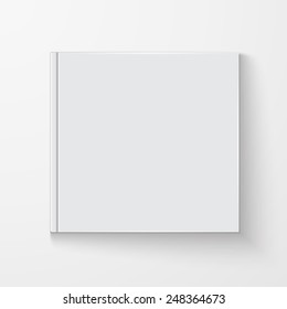 Blank book cover, excellent vector illustration, EPS 10