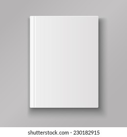 Blank book cover isolated  with shadow vector