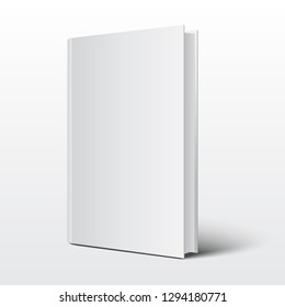 Blank book cover over on white background vector