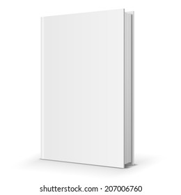 Blank  book cover template. Vector illustration.
