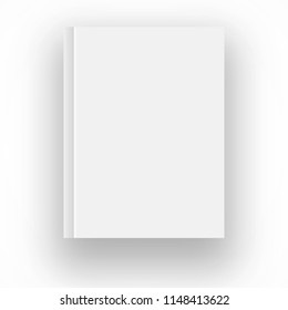 Blank book cover vector illustration gradient mesh. Isolated object for design and branding