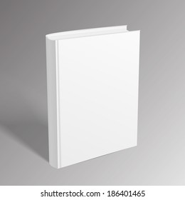 Blank book over grey background