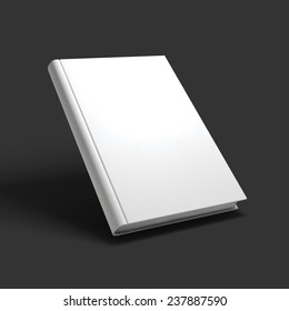 Blank book, textbook, booklet or notebook mockup. Object for design and branding. Vector Illustrator EPS10.