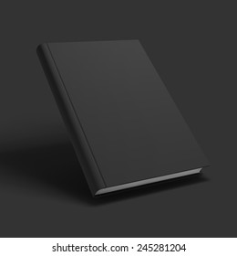 Blank book, textbook, booklet or notebook mockup. Object for design and branding. Vector Illustration EPS10.