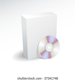 Blank box and dvd