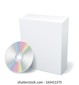 Blank box and DVD. EPS-10
