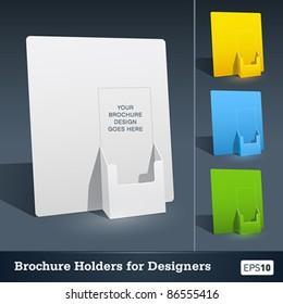 Blank brochure holder template for designers. Vector EPS10.