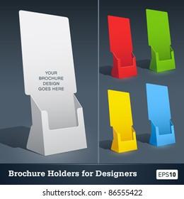 Blank brochure holder template for designers.