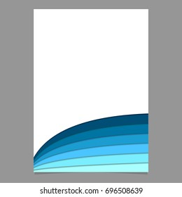 blank brochure template curved stripe layers stock vector royalty