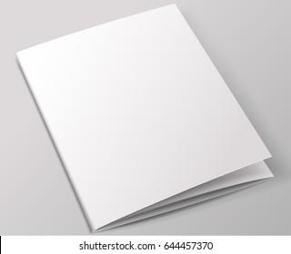 Blank brochure template : Vector Illustration