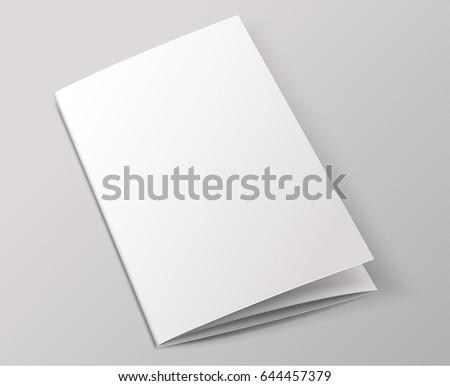 blank brochure template vector illustration stock vector royalty