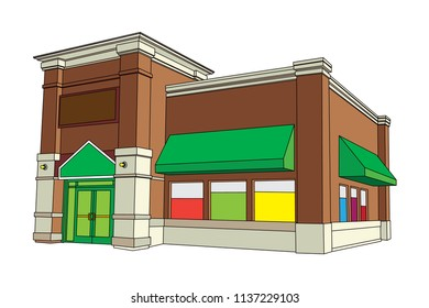 Blank Building Store Front