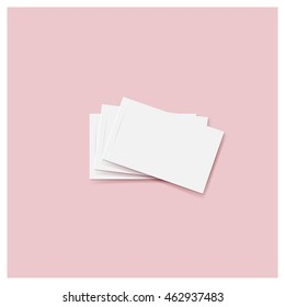 Blank business card. Ready for your design. Vector illustration.