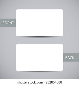 Round corners images stock photos vectors shutterstock blank business card template with round corners and shadow vector illustration cheaphphosting Images