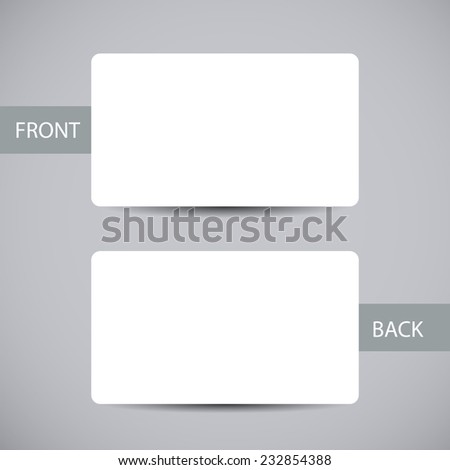 Blank business card template round corners stock vector royalty blank business card template with round corners and shadow vector illustration cheaphphosting