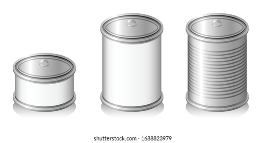 Blank canned foods for product mockup