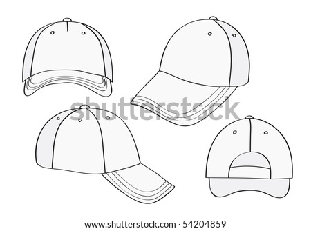 9d8e6c2c2a2 Blank Cap Different Points View Space Stock Vector (Royalty Free ...