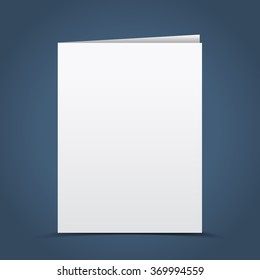 Blank card, brochure template for your design, vector