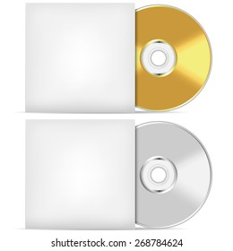 Blank CD or DVD advertising vector template.