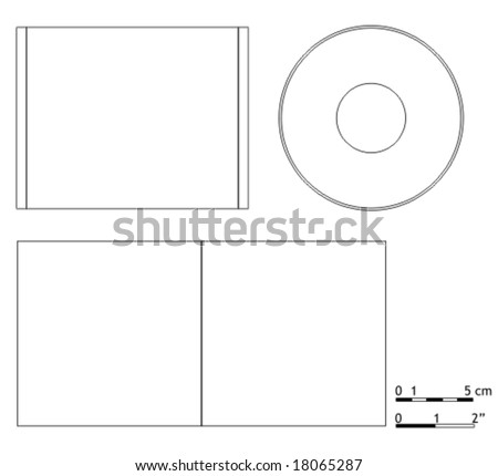 blank cd dvd cover template stock vector royalty free 18065287