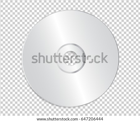 blank cd template on transparent background stock vector royalty