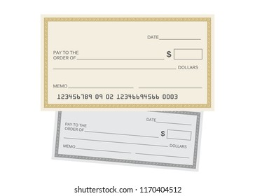 Fake Check Template | Blank Check Stock Vector Royalty Free 703337758 Shutterstock