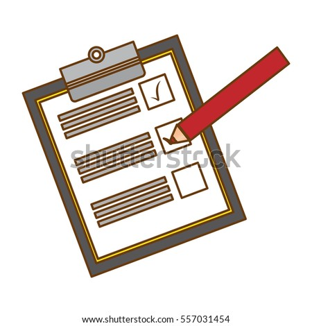 blank checklist on clipboard icon image stock vector (royalty free