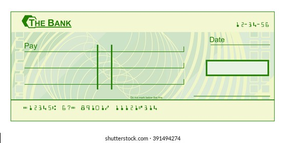 Blank Check Template Images Stock Photos  Vectors  Shutterstock