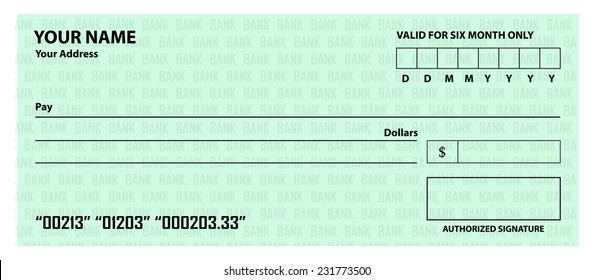 Blank cheque template
