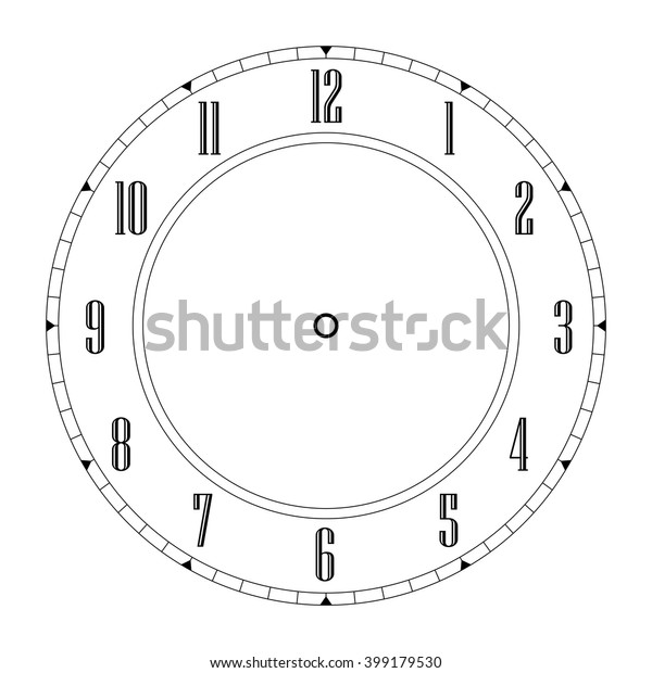 Blank Clock Face Stock Vector (Royalty Free) 399179530