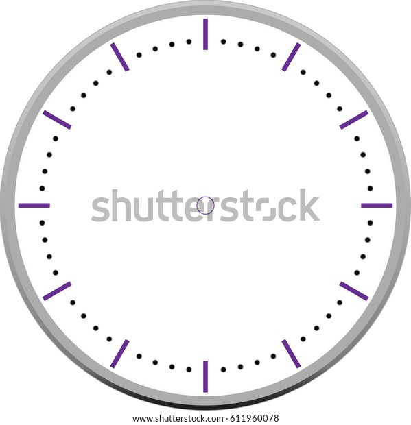 Blank Clock Face Stock Vector (Royalty Free) 611960078