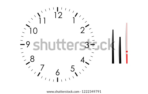 Blank Clock Face Mock Hour Minute Stock Vector (Royalty Free) 1222349791