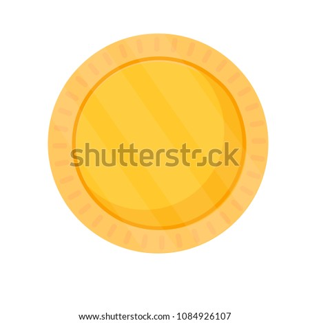 blank coin template gold blank medal stock vector royalty free