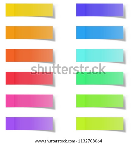 blank color memo note stickers posting stock vector royalty free