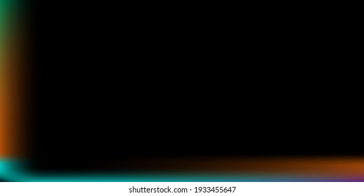 Blank Colorful Office Background. Multicolor Blurred Background. Rainbow Modern Design Backdrop. Creepy Horizontal Lines Backdrop. Dark Black Vector. Neon Rainbow Smooth Surface Illustration.